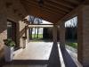 Vista di un portico con mattoni I Dogi