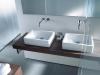 Lavabi VERO su piano in legno