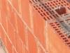 Vista della parete con laterizi T2D