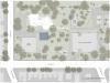 La planimetria del sito del Visual Arts Center