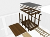 Copperwood - Entrance Canopy Structure Isometric Kit of Parts