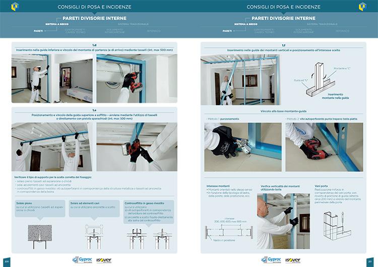 Consigli di posa: istruzioni di montaggio dei sistemi costruttivi descritti