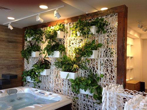 Wall y griglia per realizzare pareti verdi verticali - Pareti verdi per interni ...