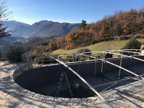 Impermeabilizzazione di una piscina con Plastivo di Volteco