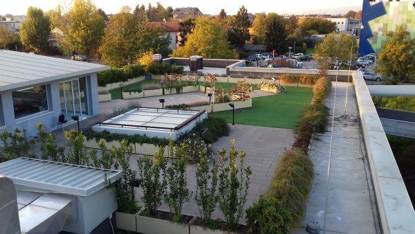 Condizione attuale della palestra all'aperto  dell'ospedale Cura della Leucemia del Bambino, a Monza