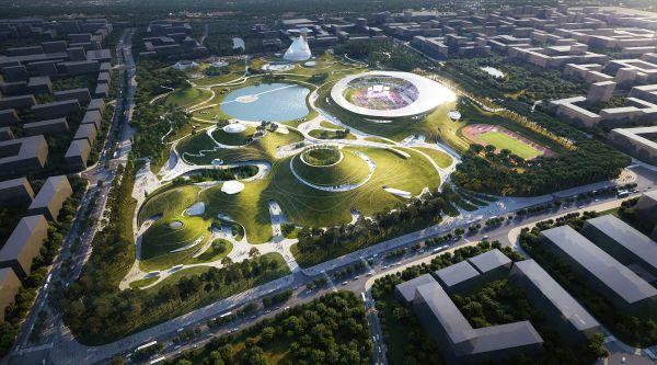 Il campus sportivo dall'aspetto extraterrestre firmato MAD a Quzhou