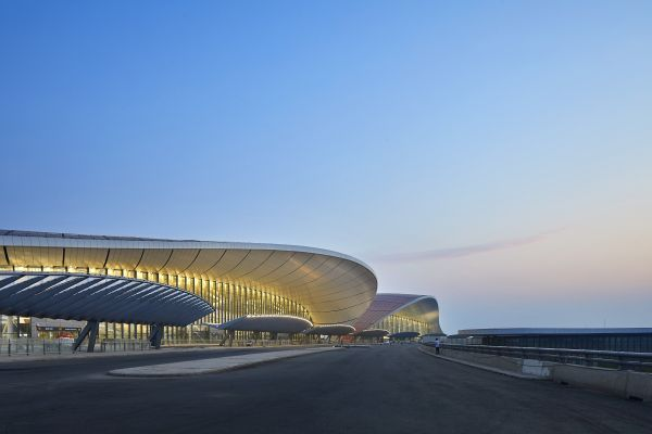 Il Beijing Daxing International Airport: vista esterna
