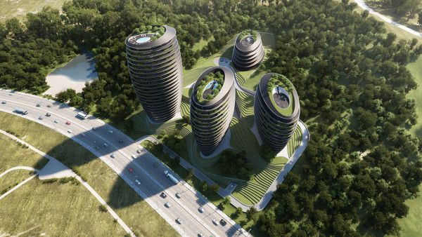 Rendering progettoPeter Pichler Architecture a taiping