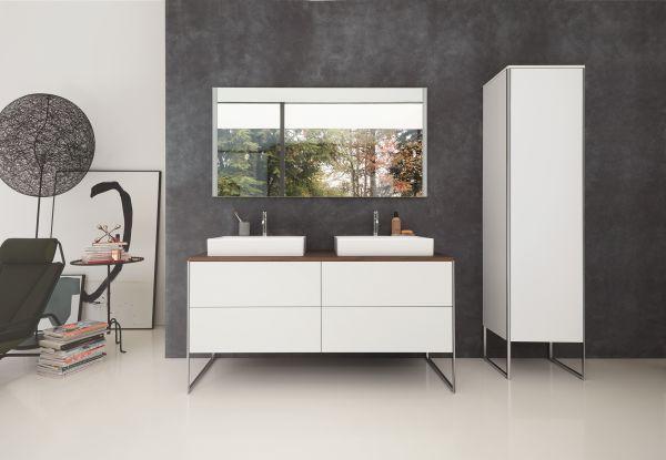 Nuova serie di mobili XSquare di Duravit  con il lavabo DuraSquare