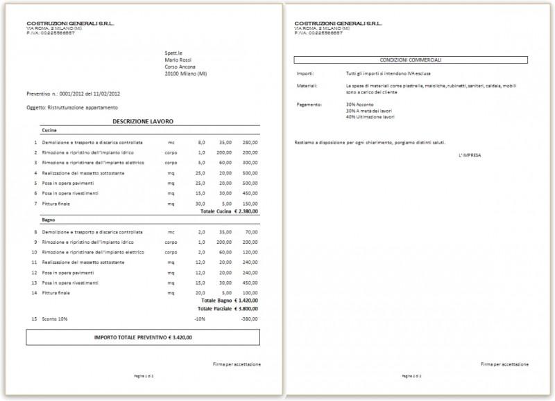 Gestione cantieri modulo archiviazione ottica dei documenti 2 posti di lavoro - Preventivo bagno ...