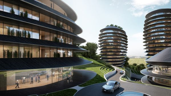 RENDERING BOUTIQUE HOTEL nuovo complesso a Taiping in Cina
