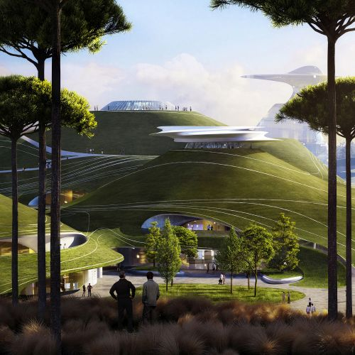 Progetto dello Quzhou Sports Campus ricorda un paesaggio marziano