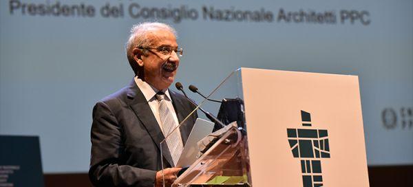 Giuseppe Cappochin, presidente del Consiglio Nazionale degli Architetti, Pianificatori, Paesaggisti e Conservatori