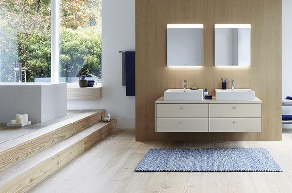 Design lineare e dettagli precisi caratterizzano la nuova serie di mobili per il bagno Brioso di Duravit