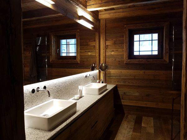 Bacinelle Duravit nel bagni dello chalet RDG a Chamonix
