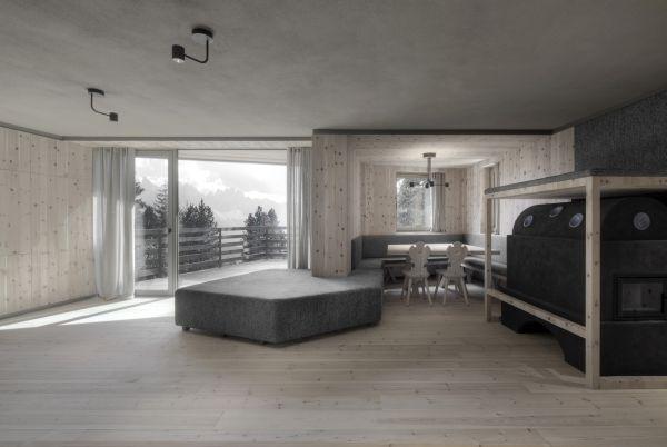 Dagli appartamenti di Chalet Odles si gode una bellissima vista