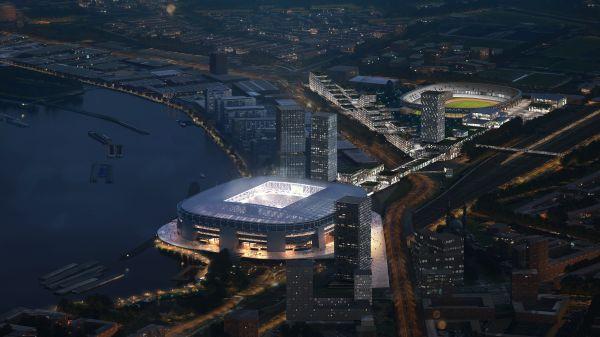 Render della proposta di riqualificazione del quartiere Zuid a Rotterdam (courtesy OMA)
