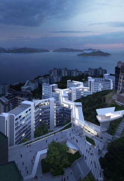 Il progetto del nuovo studentato alla Hong Kong University of Science and Technology (render Visual Brick)