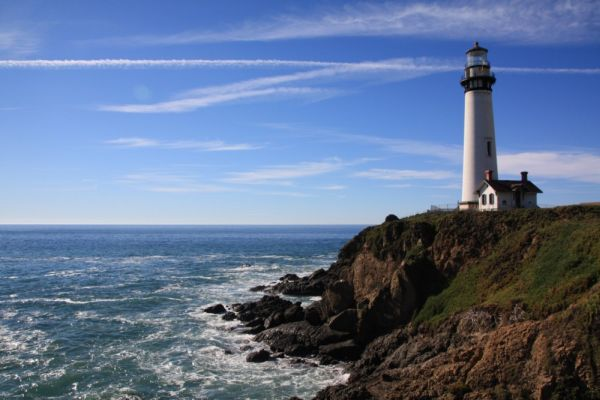Il faro Pigeon Point Lighthouse in California, trasformato in un ostello