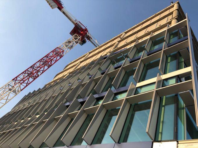 L'edificio di Spark One in costruzione a Milano Santa Giulia