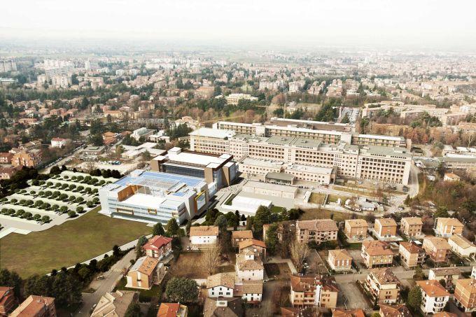Render del complesso ospedaliero Mire (credits, Binini Partners)