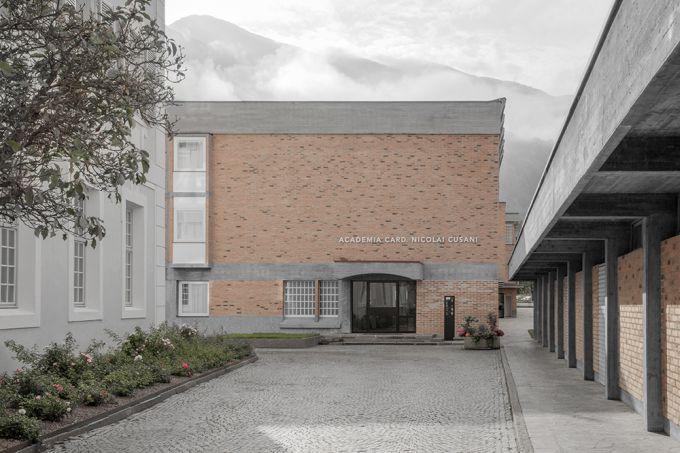 L'ingresso principale della Accademia Cusanus a Bressanone