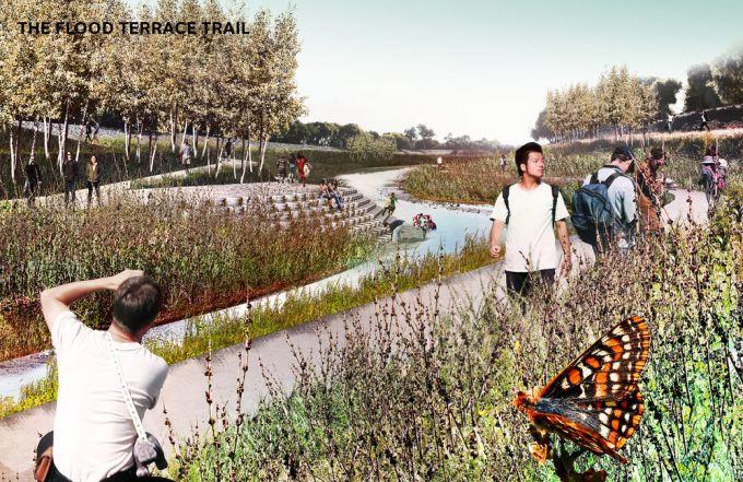 Render del progetto Unlock Alameda Creek