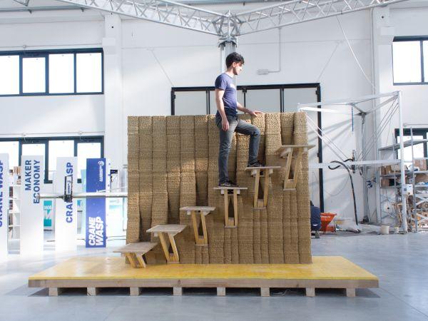 Innovativo muro portante realizzato in stampa 3D (Wasp-Iaac)