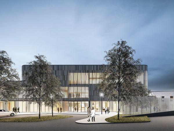 La clinica di Tampere: vista da sud-est