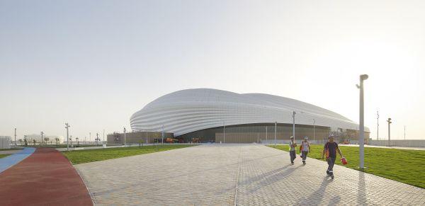 Lo stadio di calcio Al Janoub ad Al Wakrah in Qatar (credits ©Hufton+Crow)