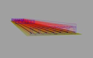 Vista 3D trave precompressa