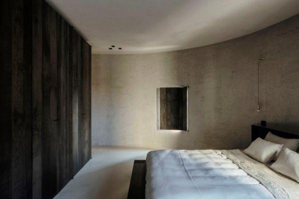 La nuova camera da letto del progetto di riqualificazione di un silos ad Anversa
