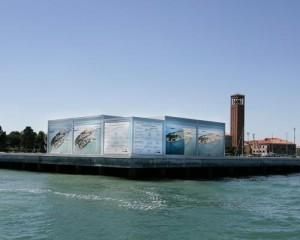 Protezione solare di un pontile sull'isola di Sant'Elena a Venezia