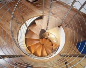 Scale elicoidali in acciaio-legno