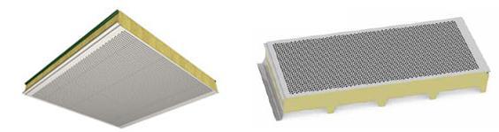 Pannelli con capacità migliorate di coibenza acustica per pareti e coperture © RW Panel spa, © Marcegaglia spa