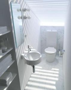 Il lavamani obliquo Architec, creato per adattarsi a spazi scomodi e ristretti.