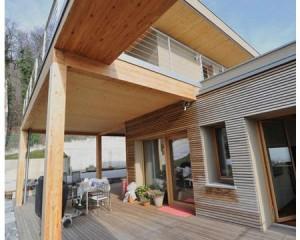 Villa prefabbricata in legno a Botticino: il lusso di Wood Beton Prestige