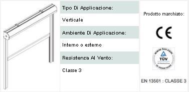 Sistema Zip per tende verticali e orizzontali