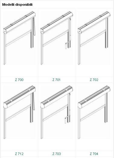 Modelli disponibili sistema zip per tende