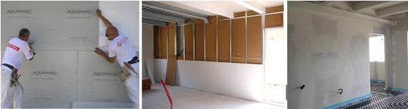 Fasi di montaggio di pareti leggere © Wisehouse / Edilizia Integrale spa