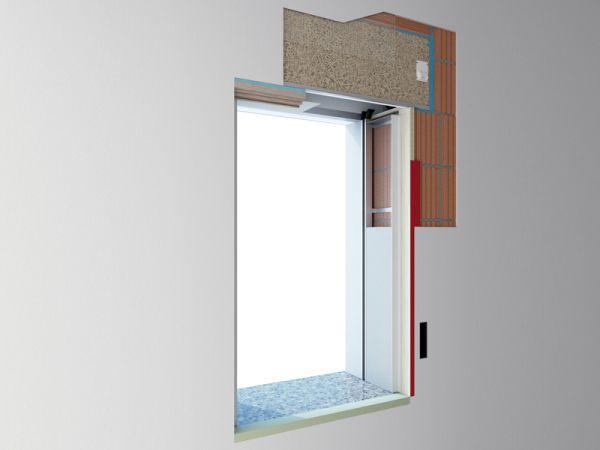 Cassonetto termoacustico df abbinato al controtelaio hc1 super - Serrande avvolgibili per finestre ...
