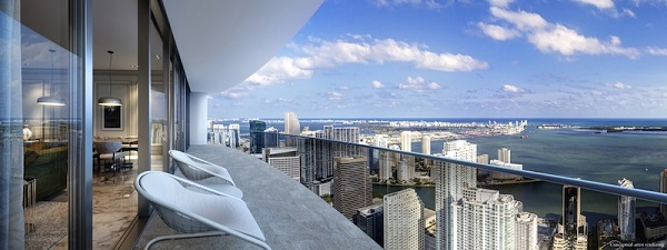 Balconata e vista dal Brickell Flatiron