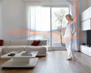 Sistema di climatizzazione radiante Zehnder NIC per soffitto e parete