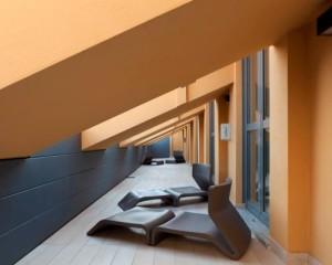 Doghe Vmzinc per un terrazzo di design