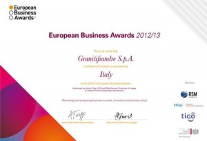 GRANITIFIANDRE tra i finalisti italiani degli European Business Awards 1