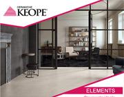 Progetto Elements: il grès che interpreta marmo, resina e legno