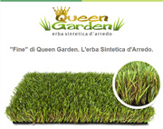 Con l'erba sintetica Fine di Queen Garden metti fine alle preoccupazioni di un prato perfetto