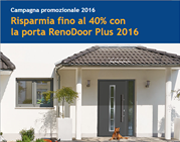40% di risparmio con la porta RenoDoor Plus 2016 Hormann