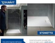Stonetto, i piatti doccia Duravit ispirati alla pietra