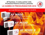 NUOVA GAMMA AF SYSTEMS DI PRESSURIZZATORI PER FILTRI FUMO!